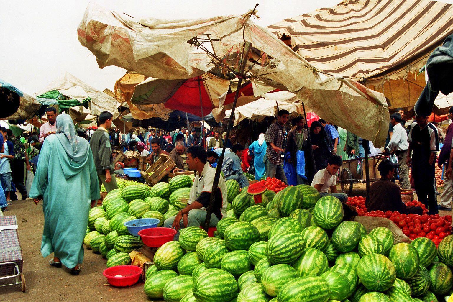 Marokko, 2002, souk
