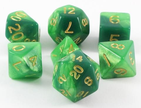 Combo Attack Dice (Green/Light Green) RPG Role Playing Game Dice Set