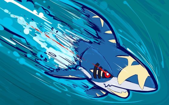 Mega Sharpedo Aqua Jet By Ishmam
