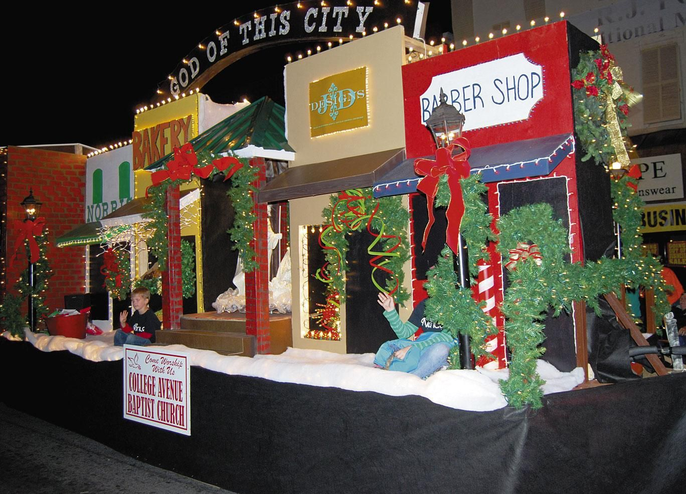 Christmas parade ideas - Picture Christmas Parade Float Themed Floats Remind All Of The Meaning Of The Christmas Season Christmas Pinterest Christmas Parade Floats