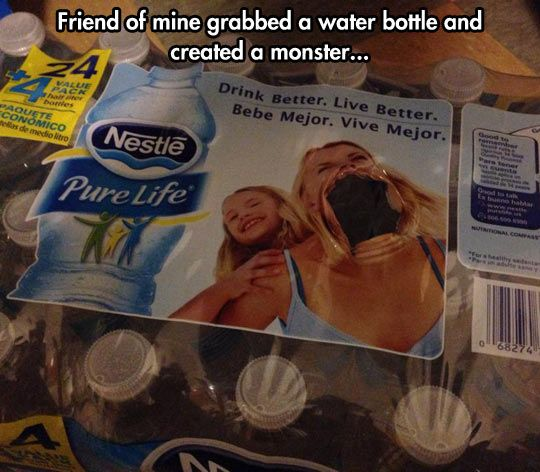 How Not Grab A Bottle Of Water From A Fresh Box Snapchat Funny Funniest Snapchats Hilarious