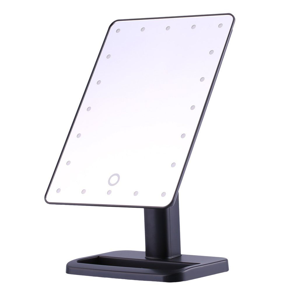 Lighted Make Up Mirror 20 Led Desktop Mirror Touch Screen Illuminated Makeup Stand Mirror Lighted C Makeup Mirror With Lights Standing Mirror Led Makeup Mirror