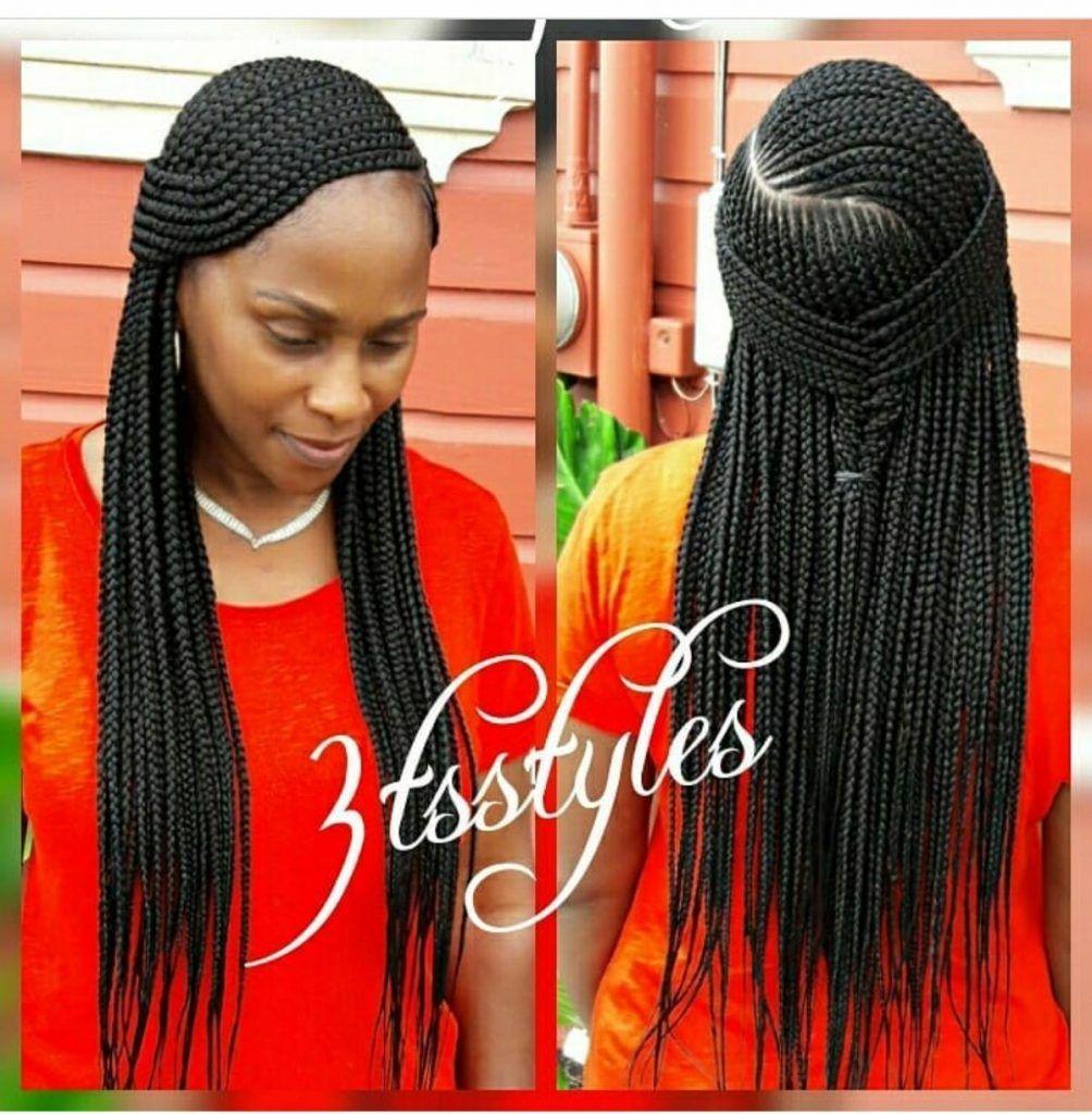 Stunningly Cute Ghanaian Braids Styles For 2019 Wedding Digest Naija Blog African Braids Styles Braided Hairstyles Braided Hairstyles For Black Women