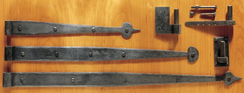 Antique Forged Strap Hinge Pintles Pair