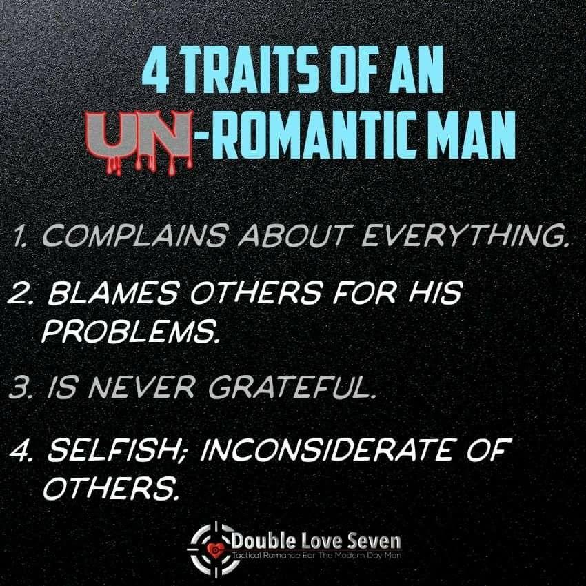 Unromantic men