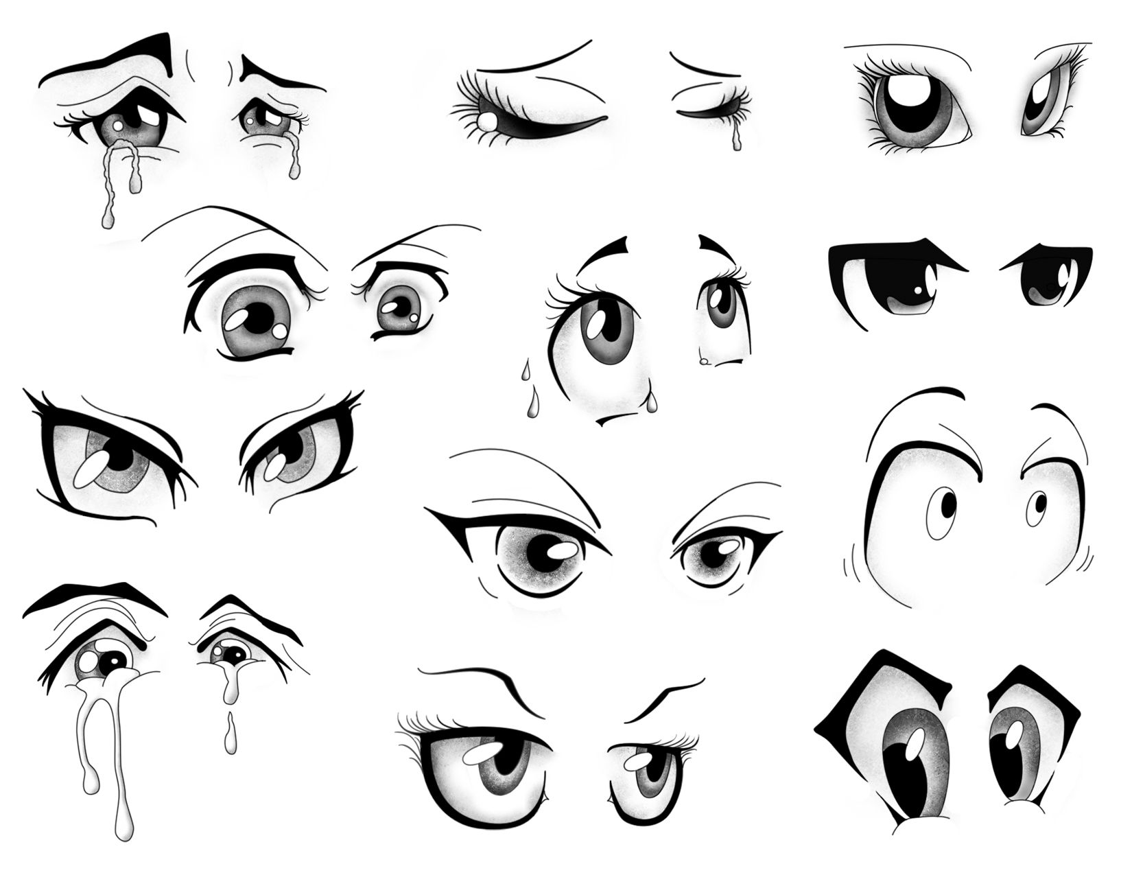 Manga Eyes Cartoon eyes