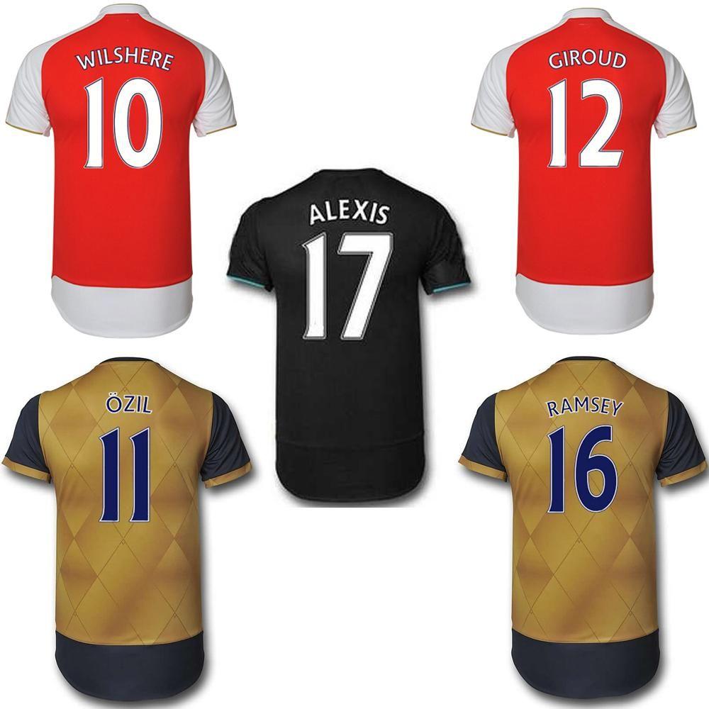 big sale 98e04 2204e 2016 Arsenals Soccer Jerseys 15/16 ARS Football Shirt Top ...