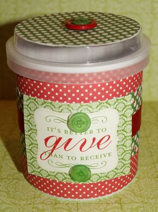 Frosting Container Redone Gift Idea Creative Packaging Crafts Crafty