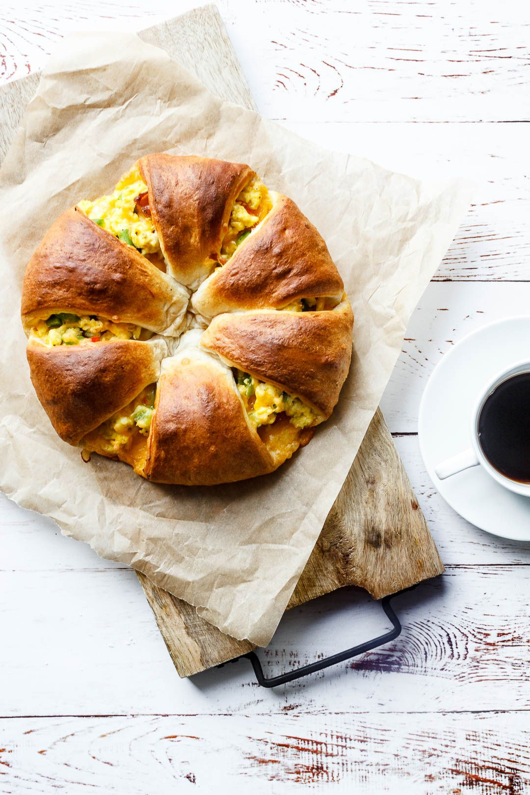 Morgenmadskrans Med æg Og Bacon