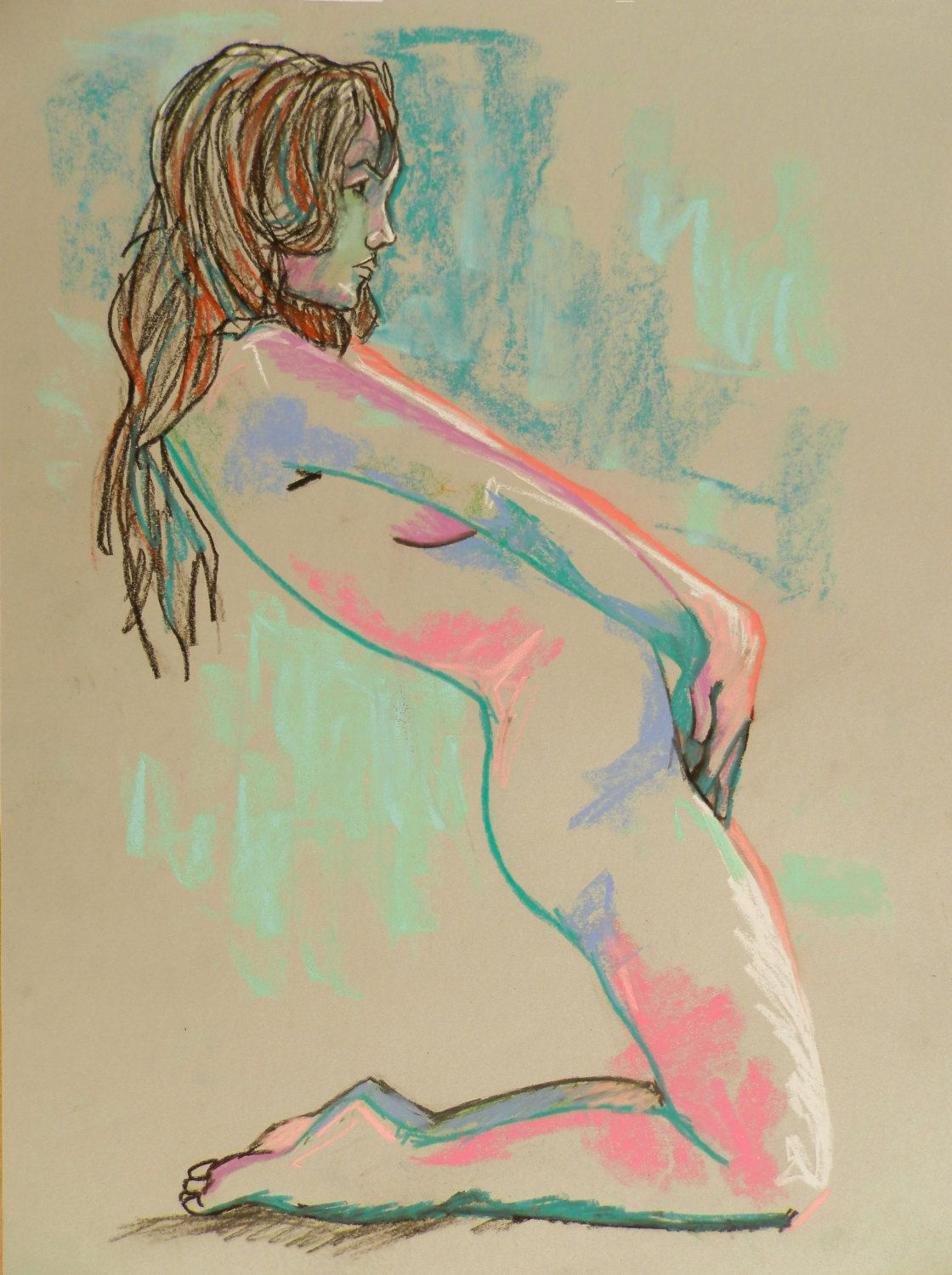 Female Nude Art Figure Study by Andrew Orton