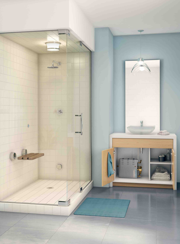 yes you can have a steam shower in a small space from