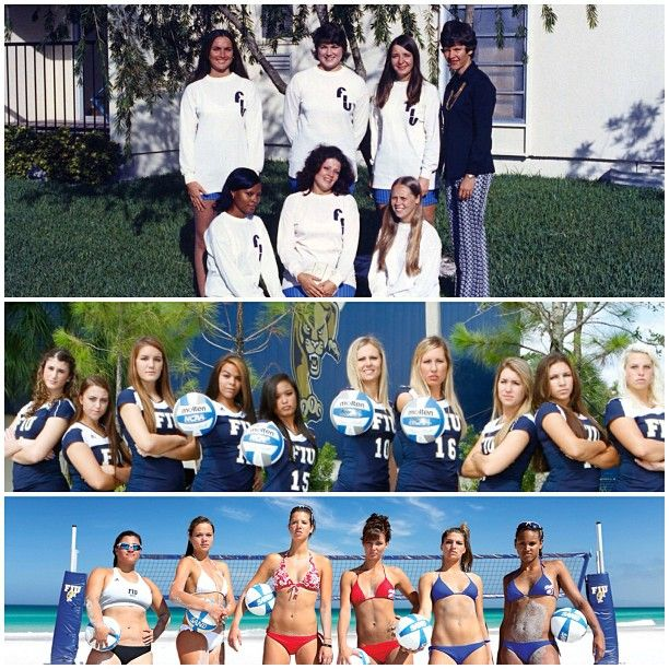 Fiu Women S Volleyball Then Now Fiuthrowback Tbt Catch The Sand Volleyball Team This Friday And Sunday At T Women Volleyball Volleyball Team Volleyball