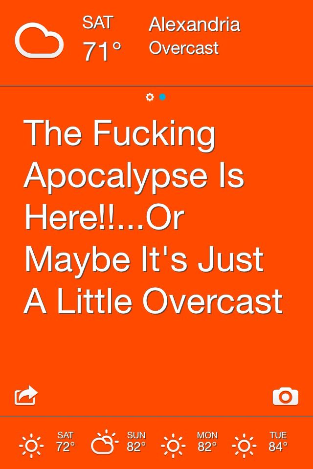 The effing weather app