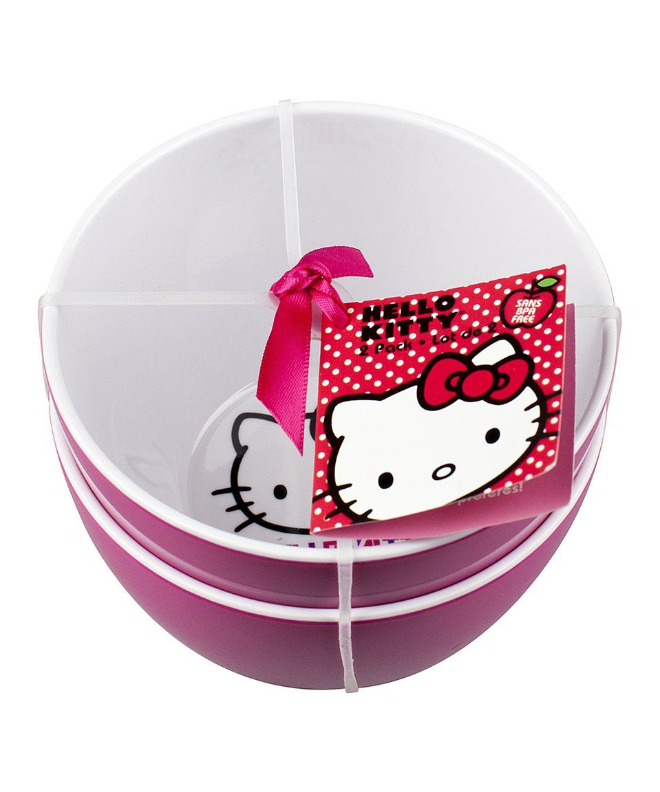Take a look at this Pink & White Hello Kitty Bowl - Set of Two today ...