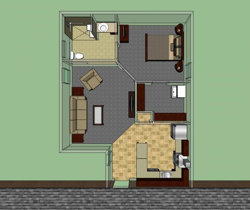 654186 handicap accessible mother in law suite house House floor plans mother in law suite