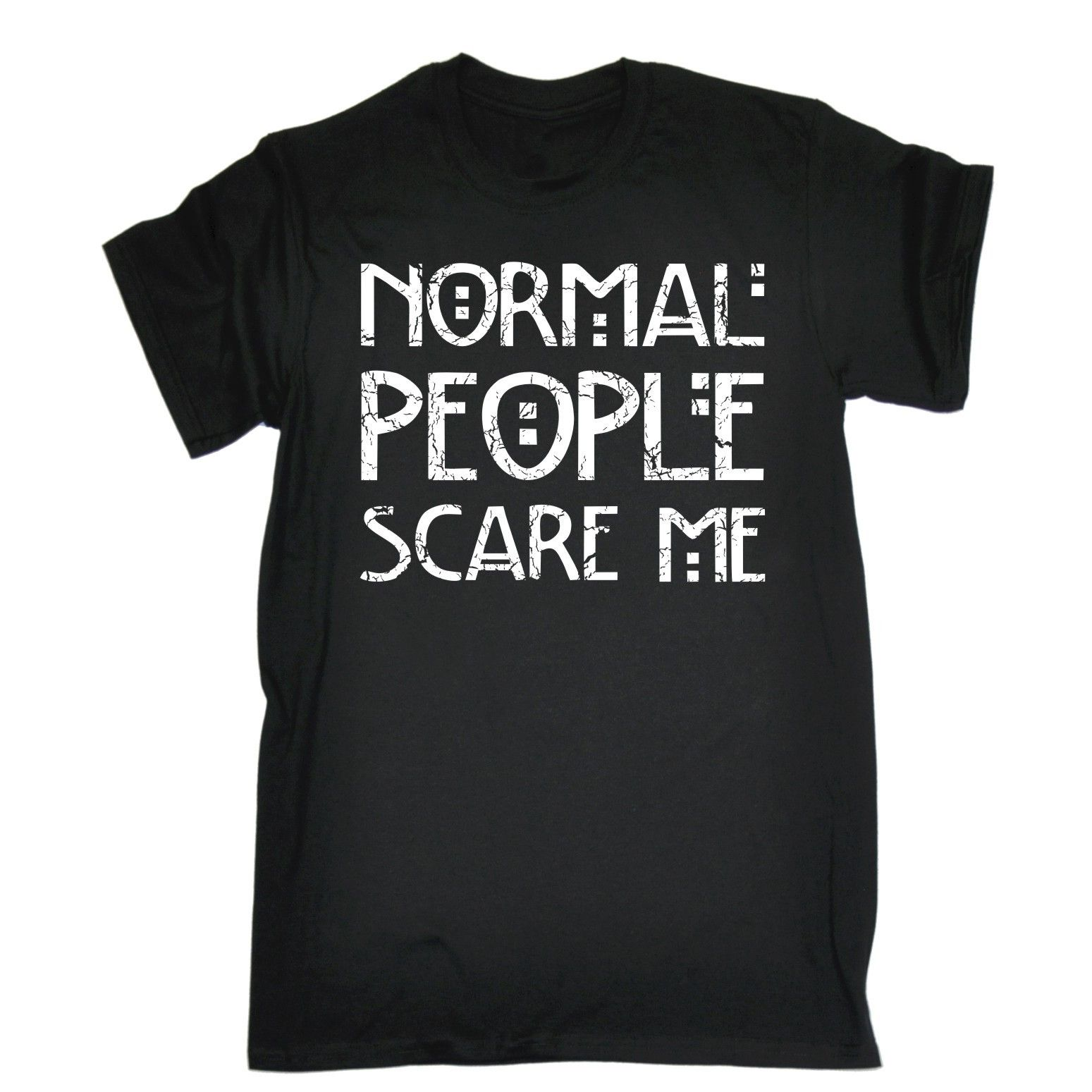 mens hairstyles NORMAL PEOPLE SCARE ME T-SHIRT Emo Introvert Rude Punk Rock  Funny Birthday Gift Casual T Shirt Male Short Sleeve Pattern * AliExpress  ...