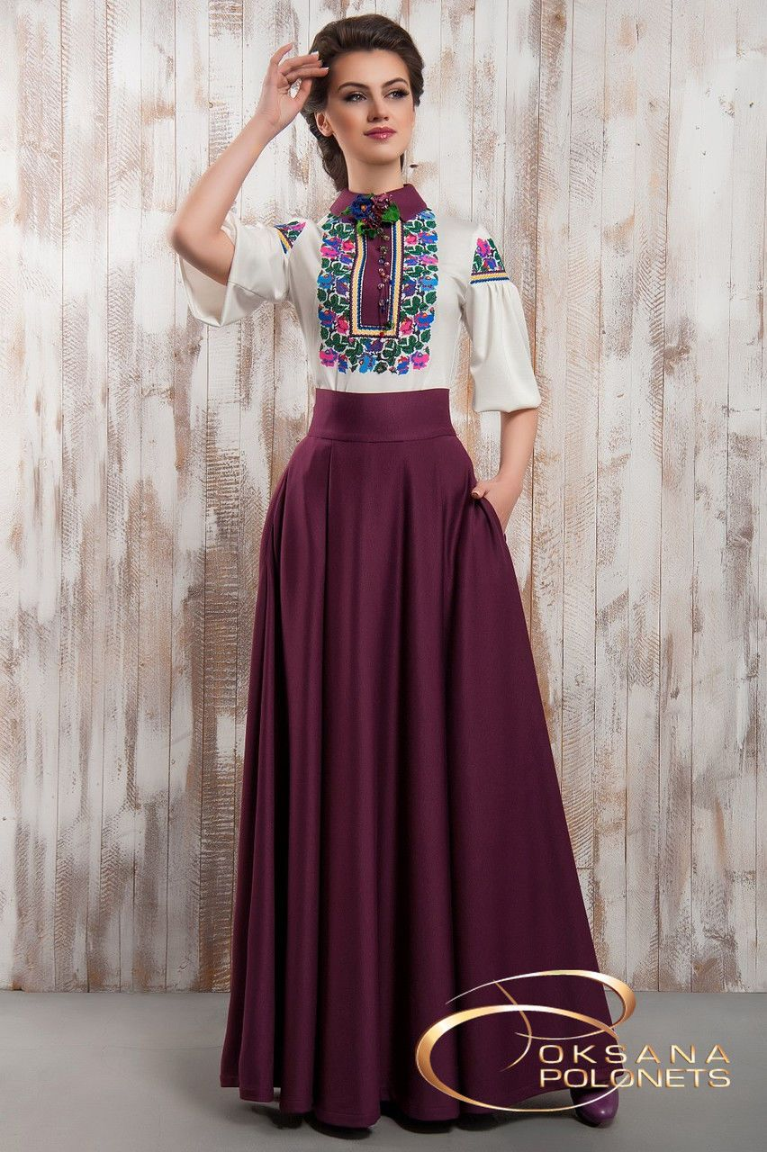 Юбка и блуза с вышивкой  продажа 714d9015d03fd