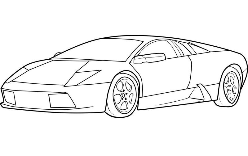 Coloring Pages Of Cars Lamborghini Huracan Free Lamborghini Huracan Expensive Sports Cars Car Drawing Easy