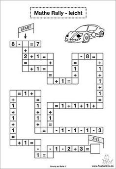 Mathe Rätsel leicht - plus minus | Teaching World | Pinterest | Math ...