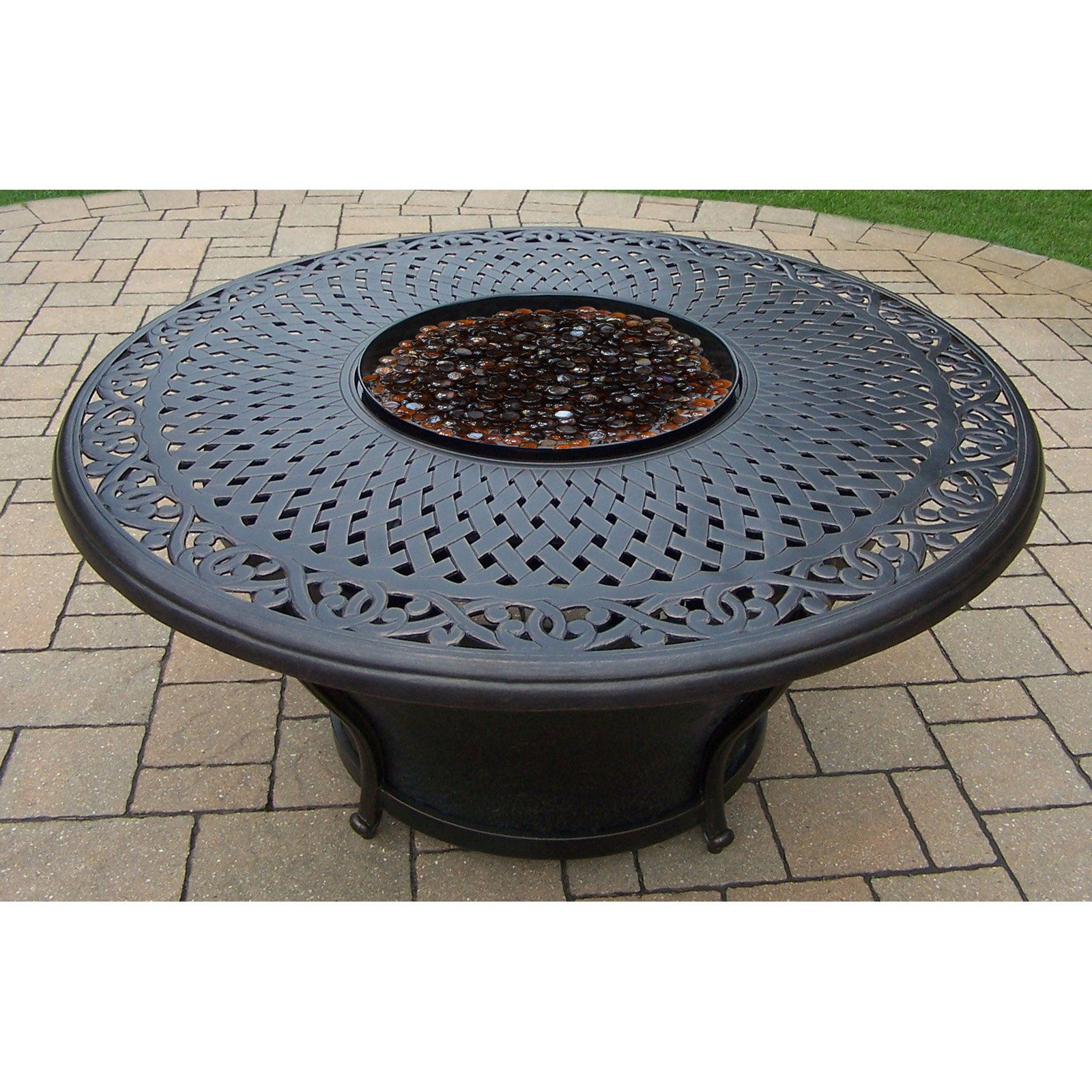 Oakland Living Charleston 48 diam. Fire Table in 2019 ... on For Living Lawrence Fire Pit id=88509