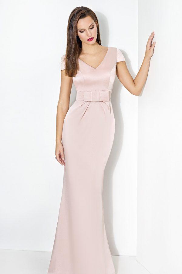 Diseño largo de fiesta modelo Flers con lazo en la cintura | coser ...