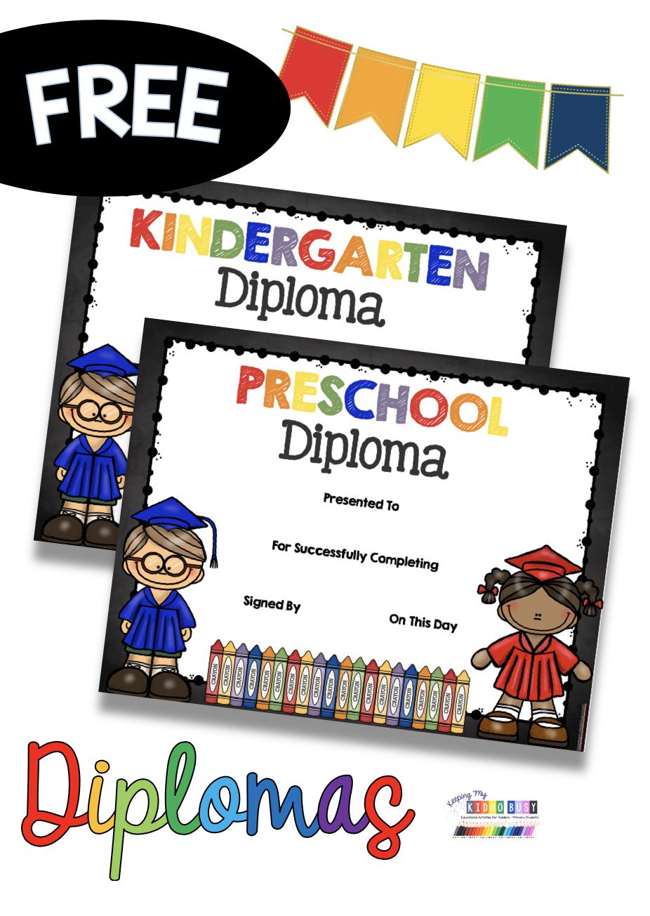 Graduation Class Rings Free Printable Keeping My Kiddo Busy Kindergarten Freebies Kindergarten Graduation Diploma Kindergarten Graduation [ 1304 x 926 Pixel ]