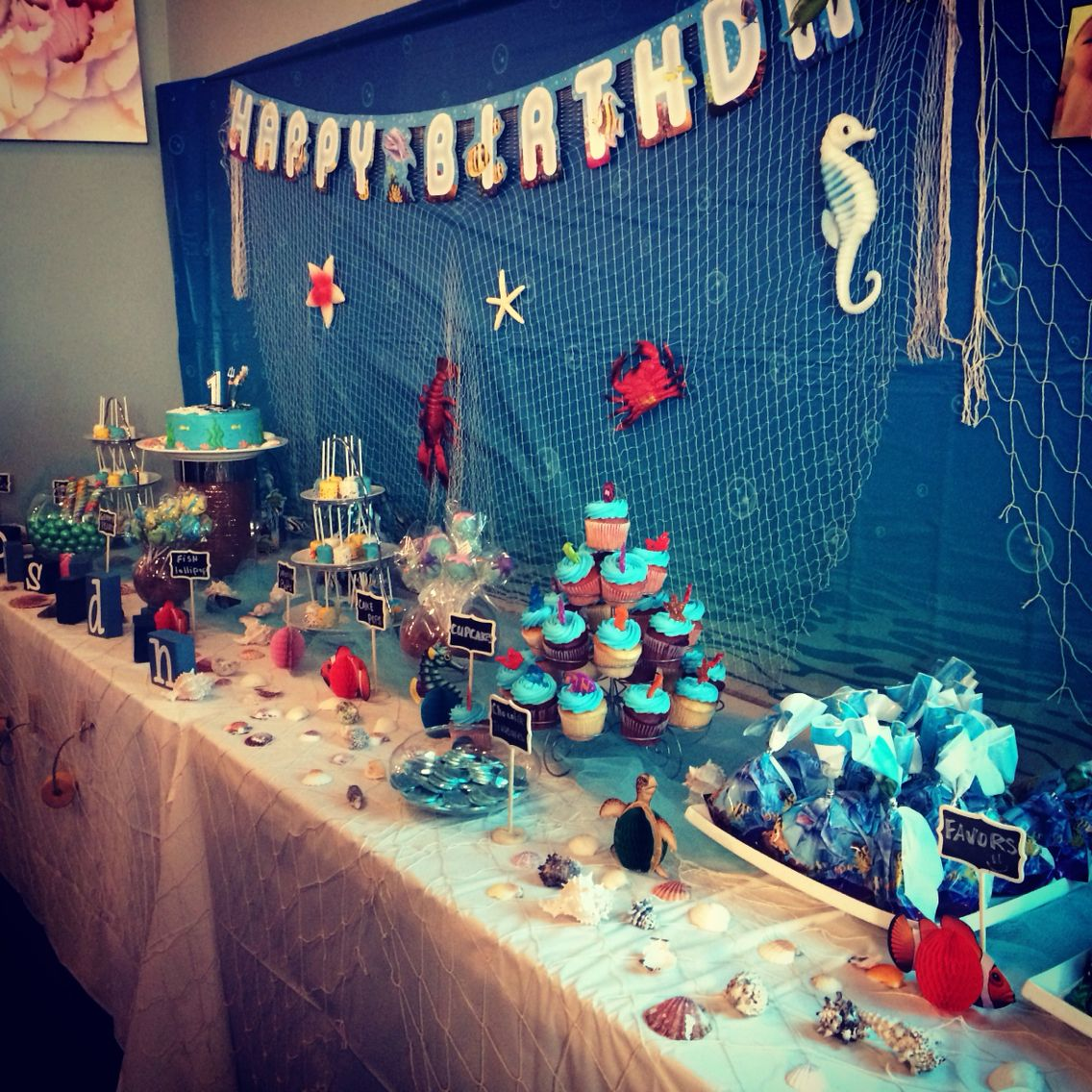 Poseidon 1st Birthday Under The Sea Theme