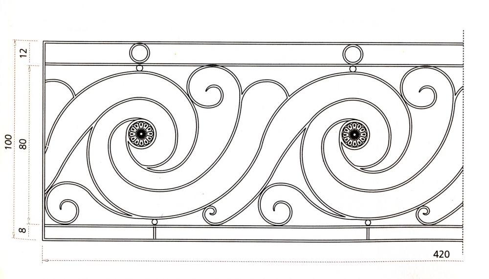 Garde corps escalier balcon en fer forg style for Grille fer forge fenetre