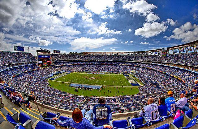 San Diego Chargers - Qualcomm Stadium | San Diego Charger ... Qualcomm Stadium Baseballfootball