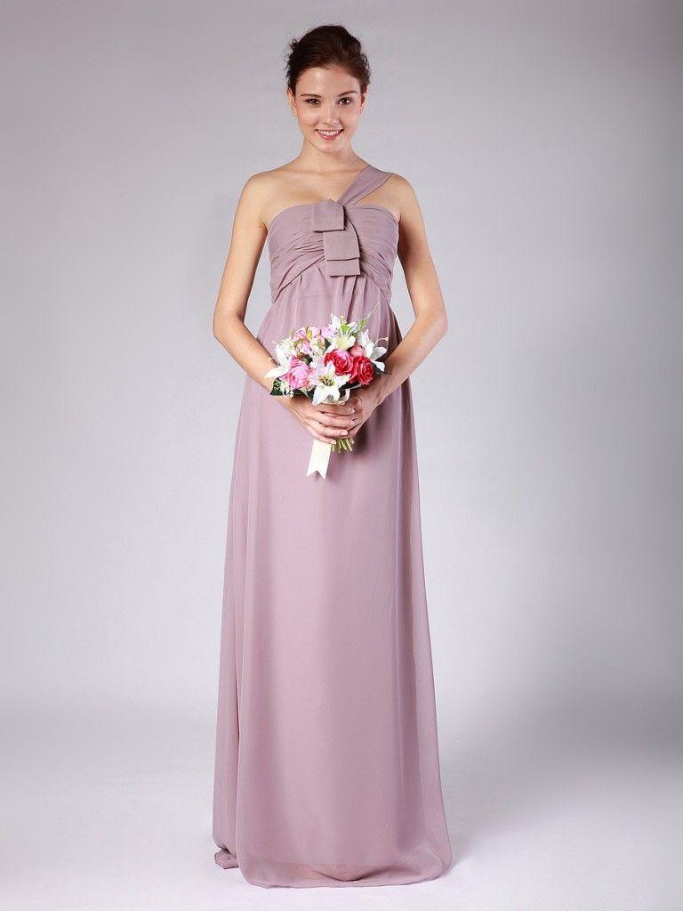 Awesome one shoulder chiffon bridesmaid dress dresses pinterest