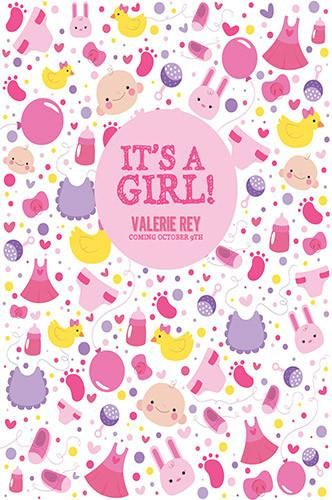 custom background it is a girl baby shower backdrop 1st birthday