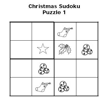 Christmas Sudoku Puzzles for Kids Christmas Sudoku for Kids
