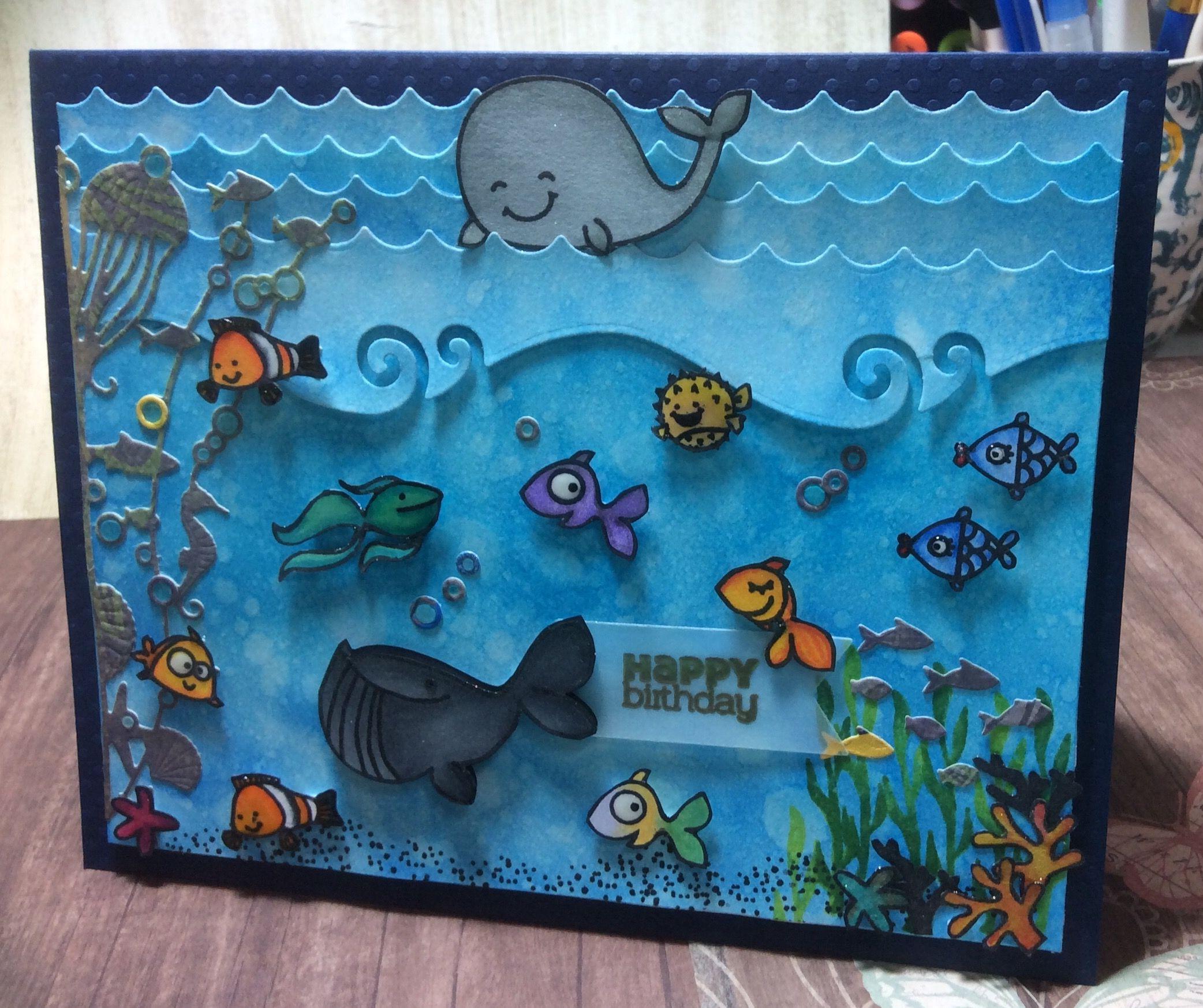 Handmade birthday card under the sea birthday happy birthday