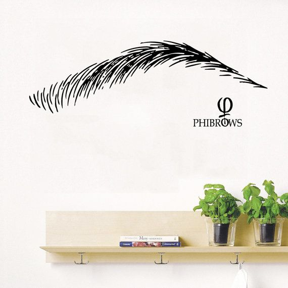 Custom Wall Decal Make Up Wall Decals Beauty Salon Decor Art Mural Home Design Interior Brows Vinyl Stickers Girls Liv Salon Design Custom Wall Decal Phi Brows