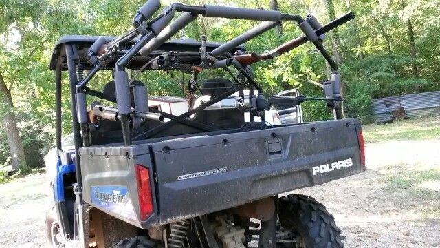 Pvc Gun Rack On 2012 Polaris Ranger 800 Guns Polaris