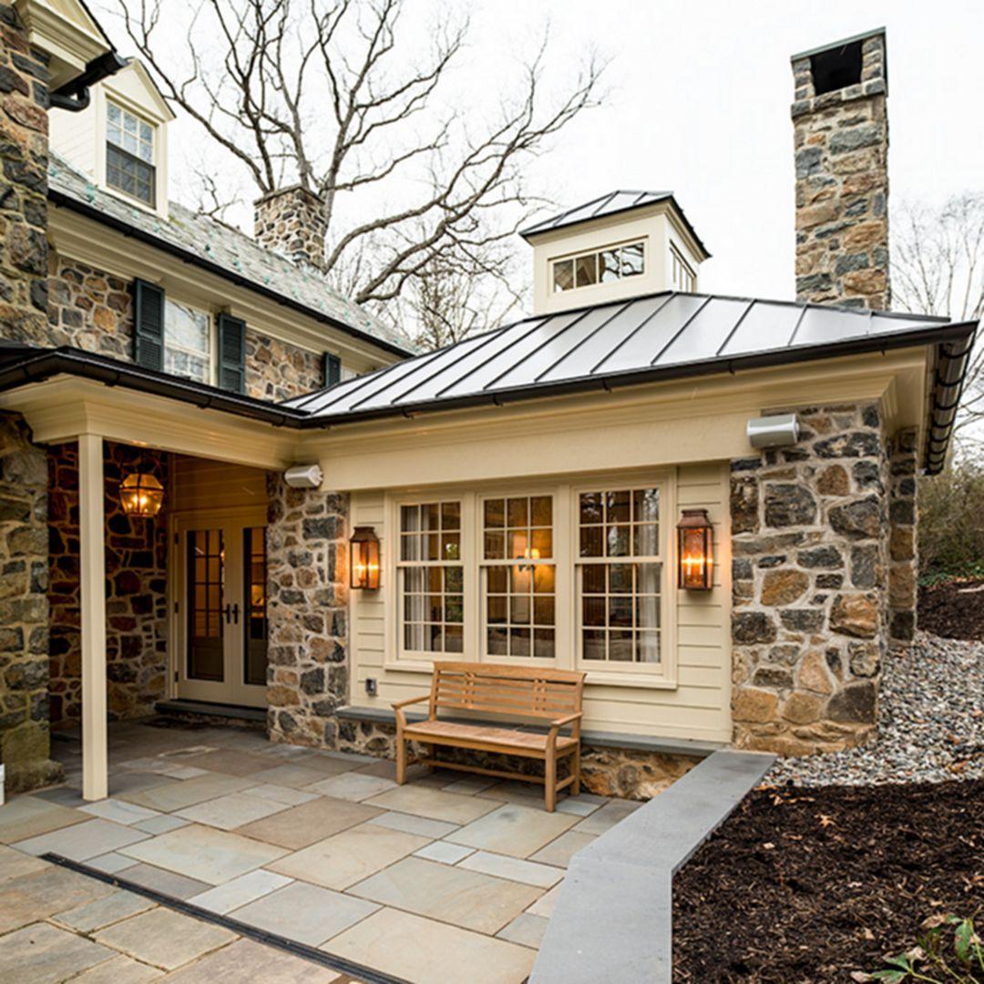 Home Design Addition Ideas: 25 Beautiful Stone House Design Ideas On A Budget