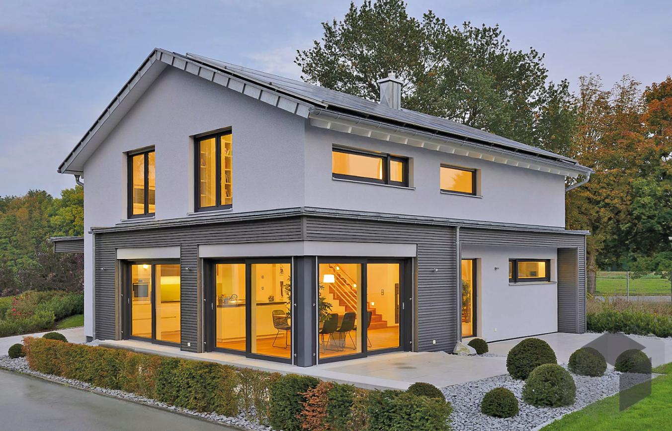 Das Plusenergiehaus Ulm von Fertighaus Weiss hat 5 Zimmer