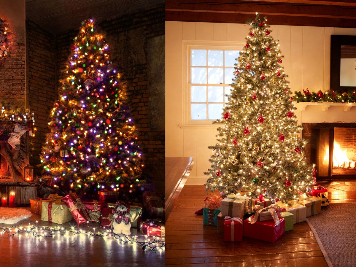 Watch Why The Real Debate At Christmas Is White Vs Multi Colored Lights Christmas Tree With Coloured Lights Christmas Tree Colored Lights White Christmas Tree Lights