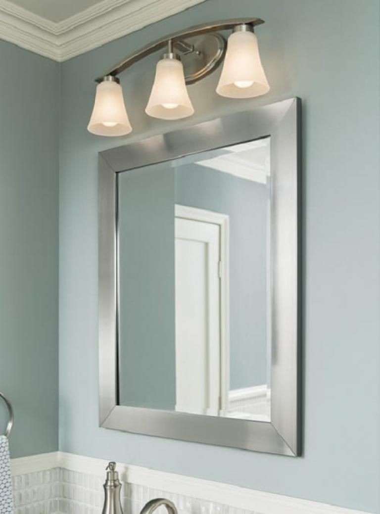 Best Lowes Bathroom Vanity Mirror Ideas Dengan Gambar