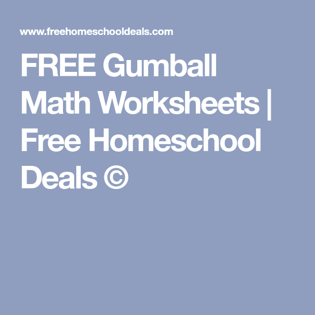 FREE Gumball Math Worksheets | Math worksheets, Gumball and Worksheets
