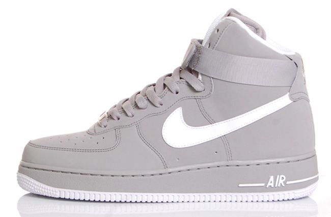 "Nike Air Force 1 High ""3M"" – Medium Grey / White"