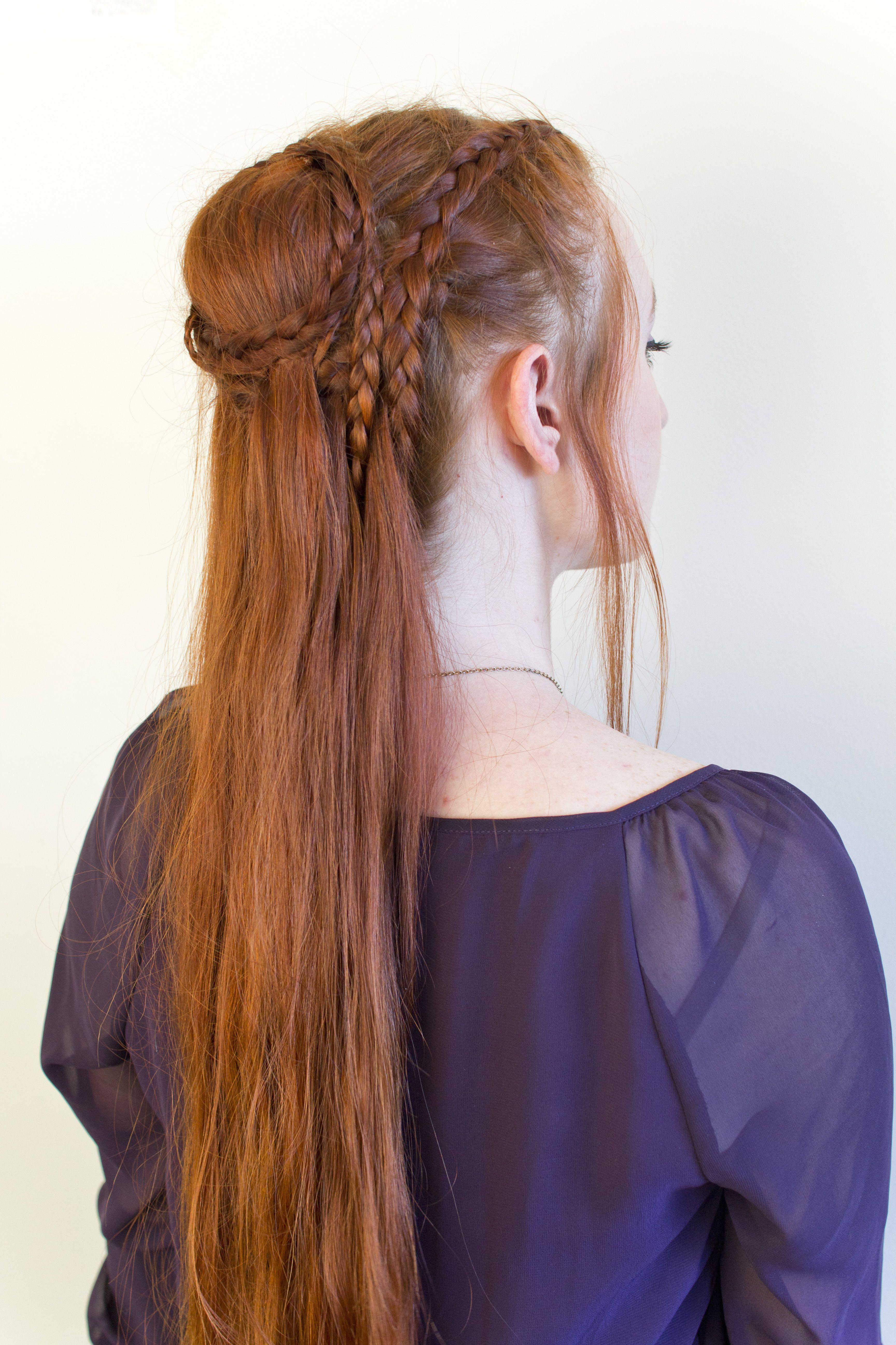 daenerys season 5 braided updo with video tutorial by