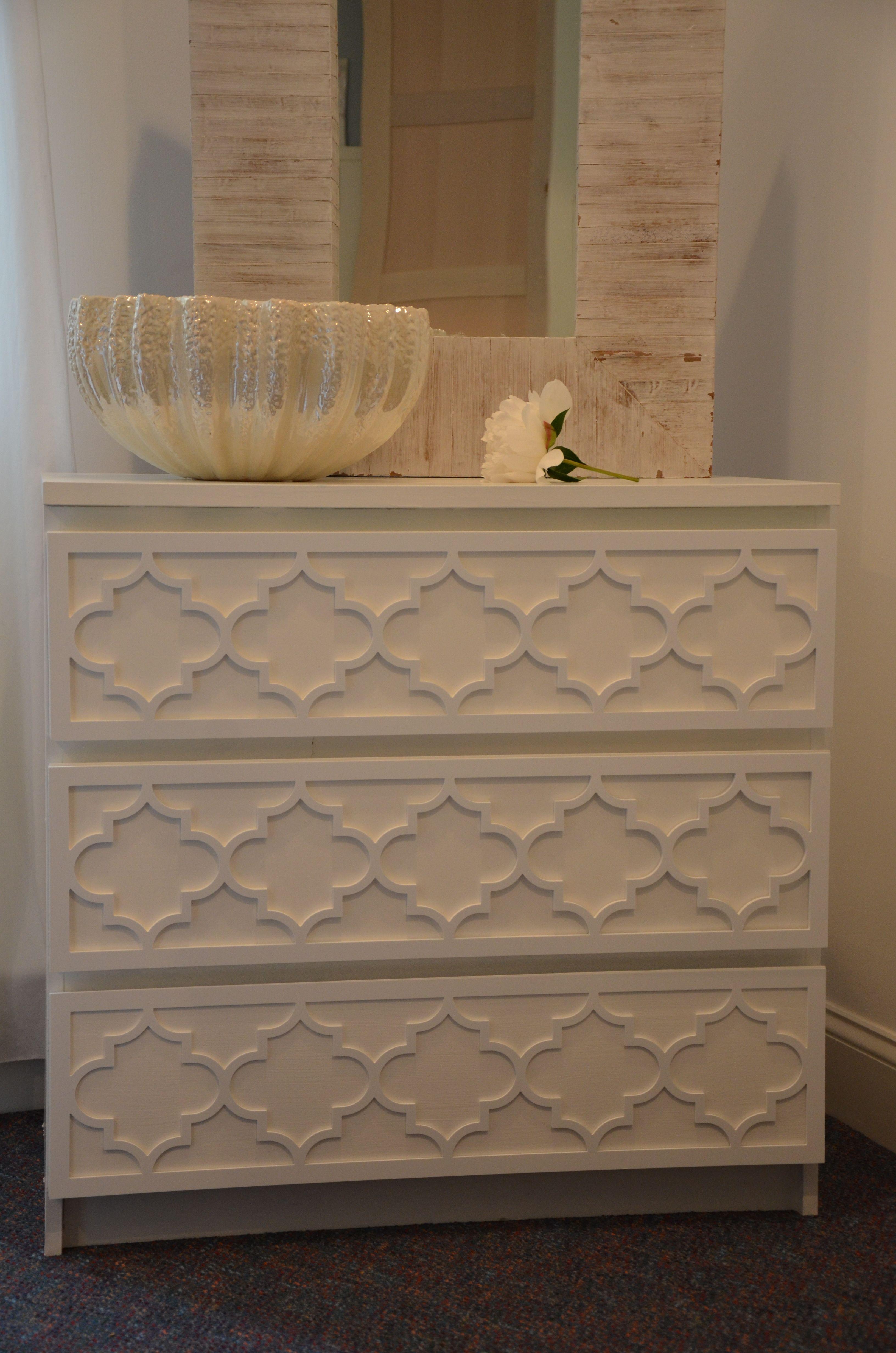 Overlay Jasmine Kit For Ikea Malm 3 Drawer Dresser In 1 4