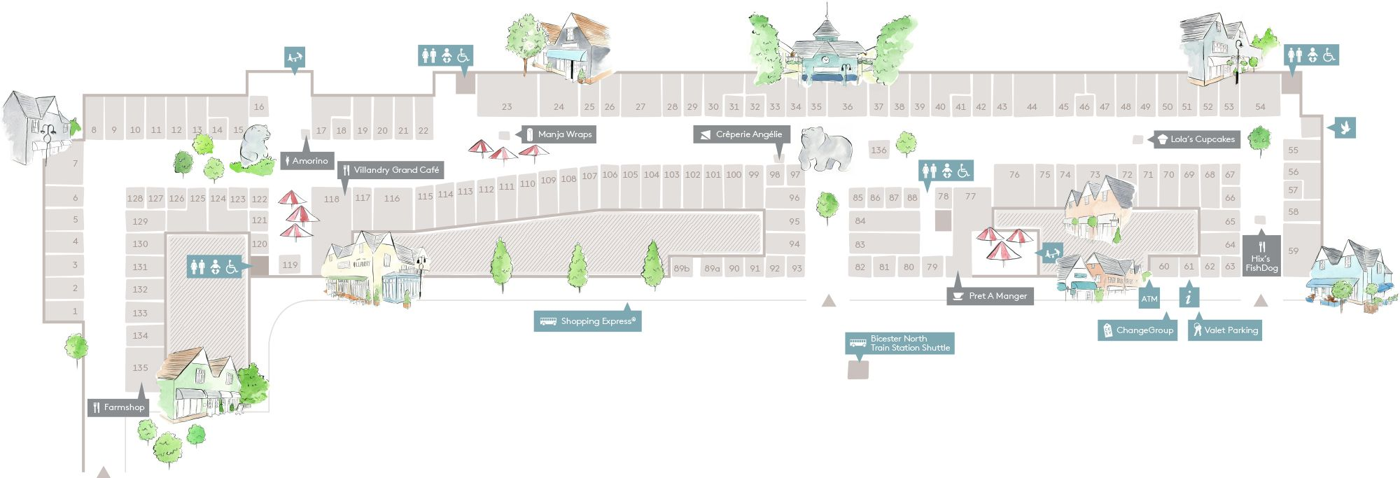 Bicester Village Map Village Map • Bicester Village | Projects to Try Bicester Village Map