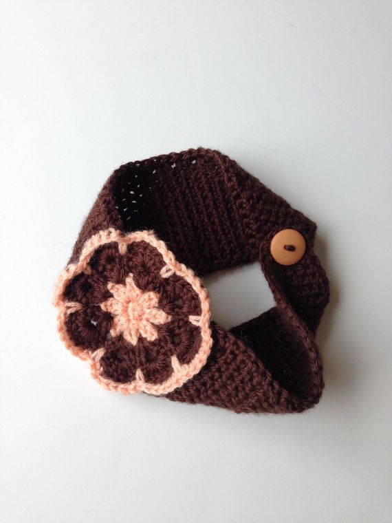 Crochet headband ear warmer/ earwarmer/ African flower by MunandMe ...