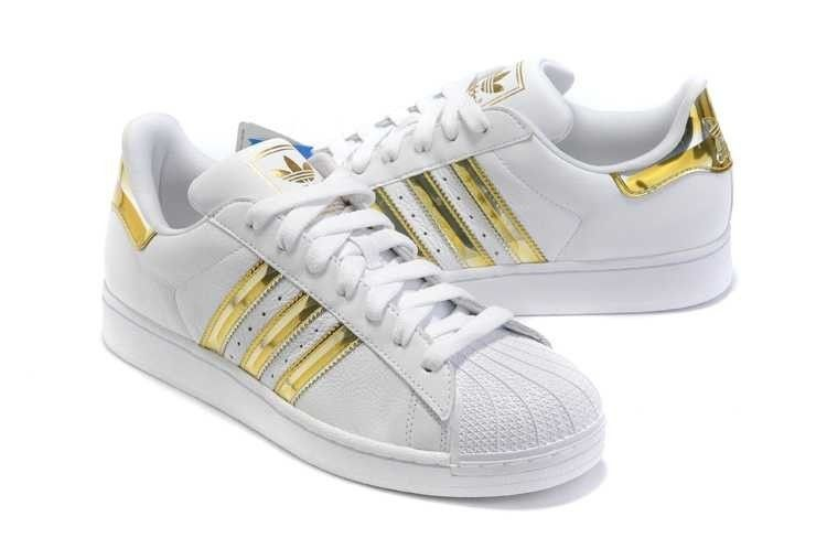 adidas superstar blanc or