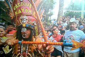El Cacique Mayor celebrando a Santo domingo de Guzman en Managua Nicaragua