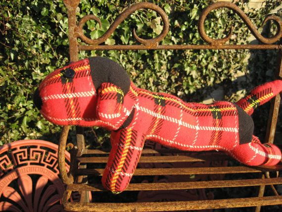 Red is the second sock dog I have made and is available to buy on Esty :)