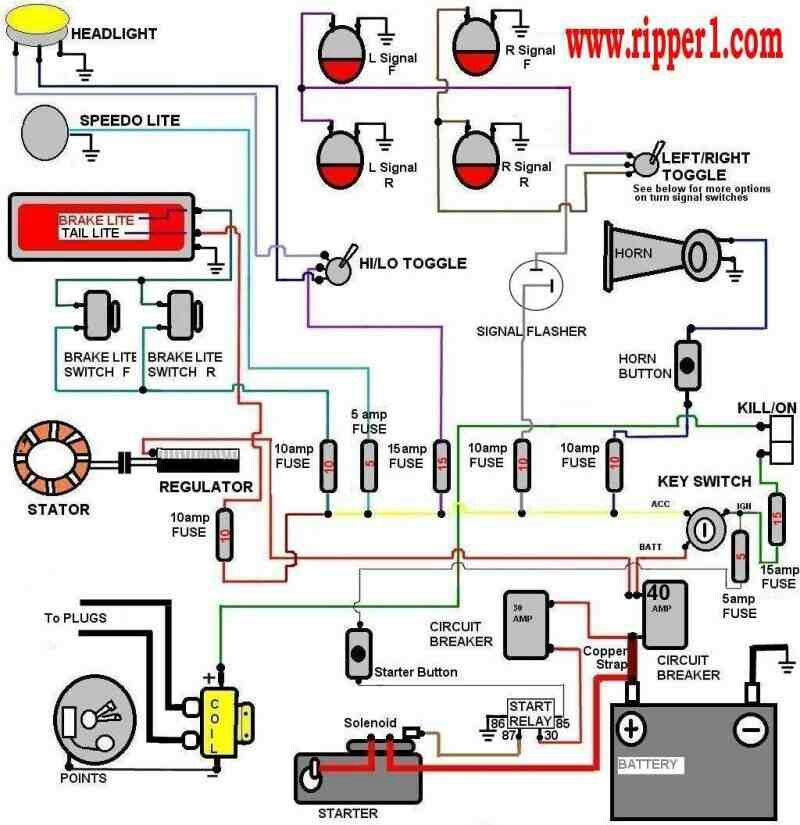 simplified wiring diagram  electrical diagram electrical