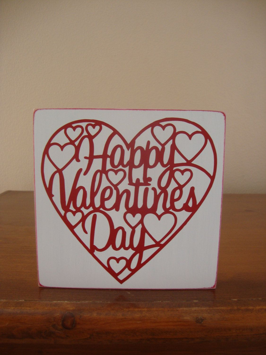Happy Valentine Day Sign Home Decor Wood Sign Holiday Holiday